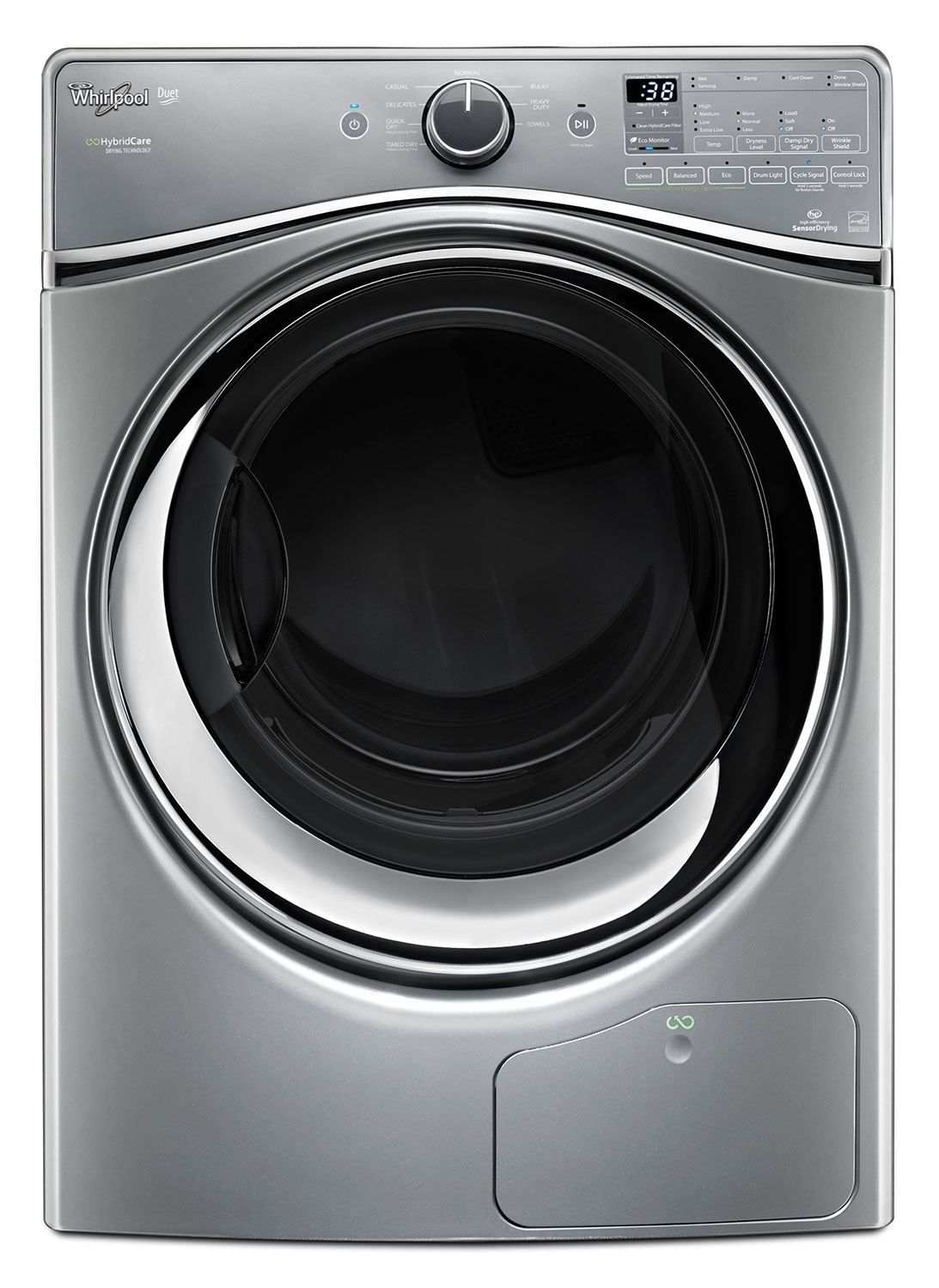 Washers and Dryers - Whirlpool Chrome Shadow Electric Dryer (7.3 Cu. Ft.) - YWED99HEDC