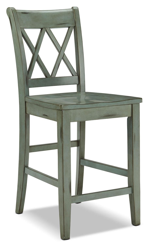 "Dining Room Furniture - Mestler 24"" Barstool – Blue-Green"