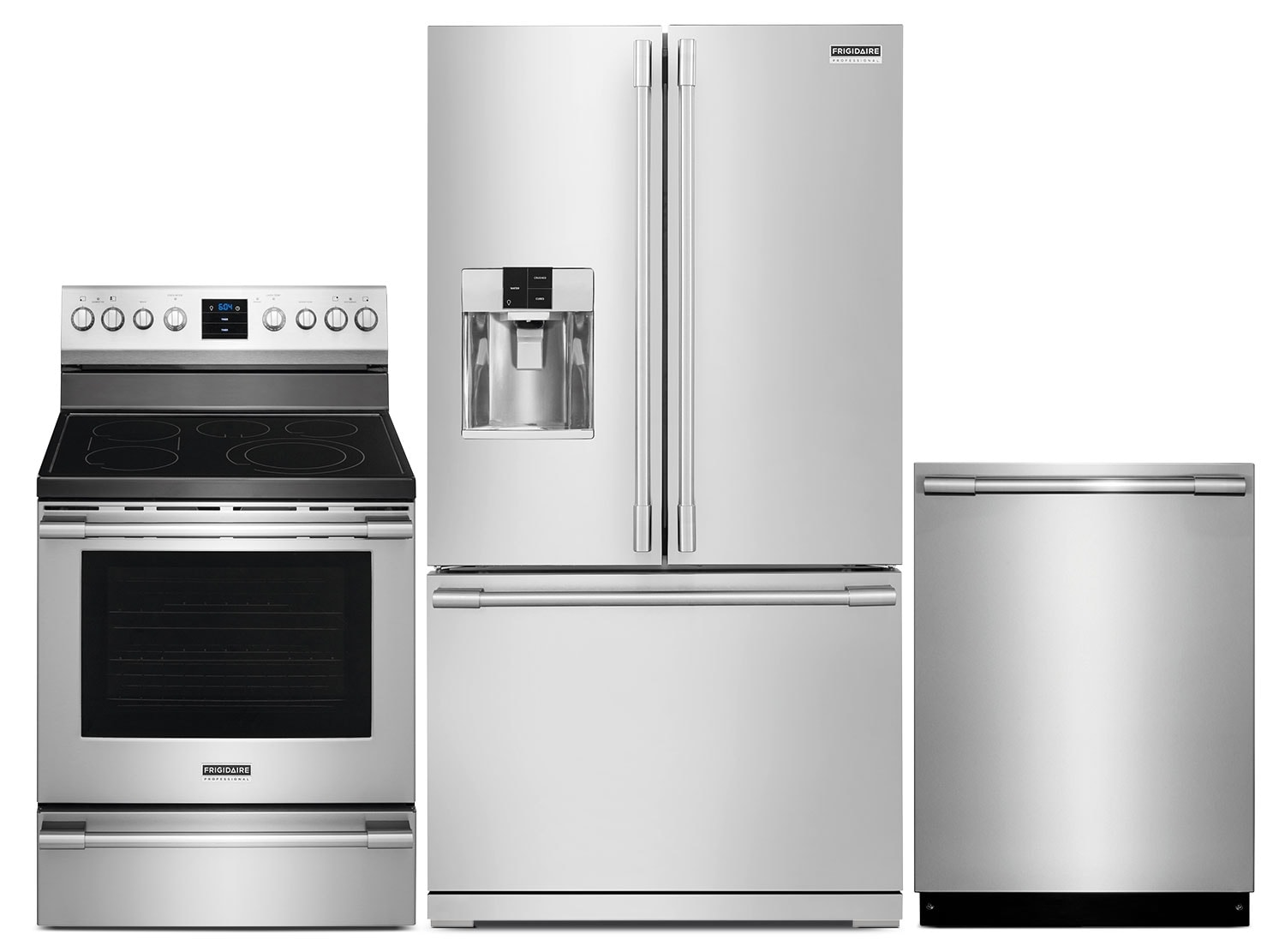 Cooking Products - Frigidaire 27.8 Cu. Ft. Refrigerator, Convection Range and Dishwasher