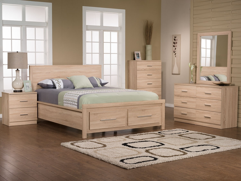 Chambre à coucher - Ensemble de chambre à coucher Sierra 5 pièces avec grand lit