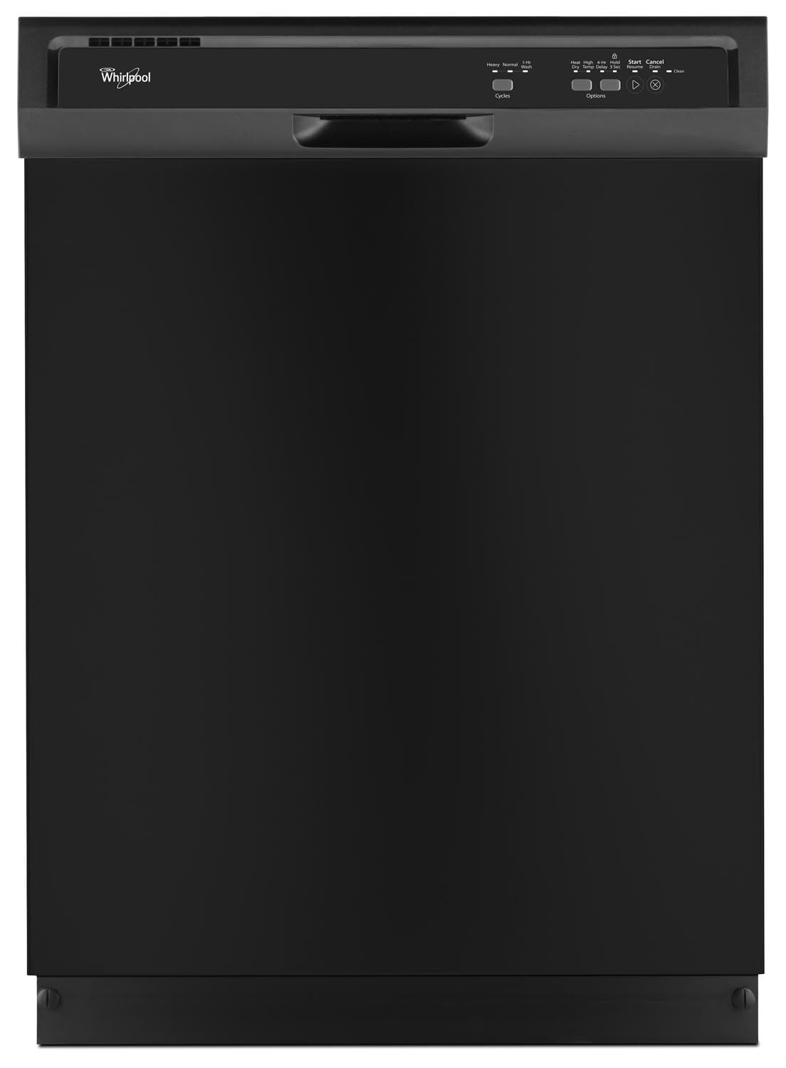 "Clean-Up - Whirlpool Black 24"" Dishwasher - WDF320PADB"