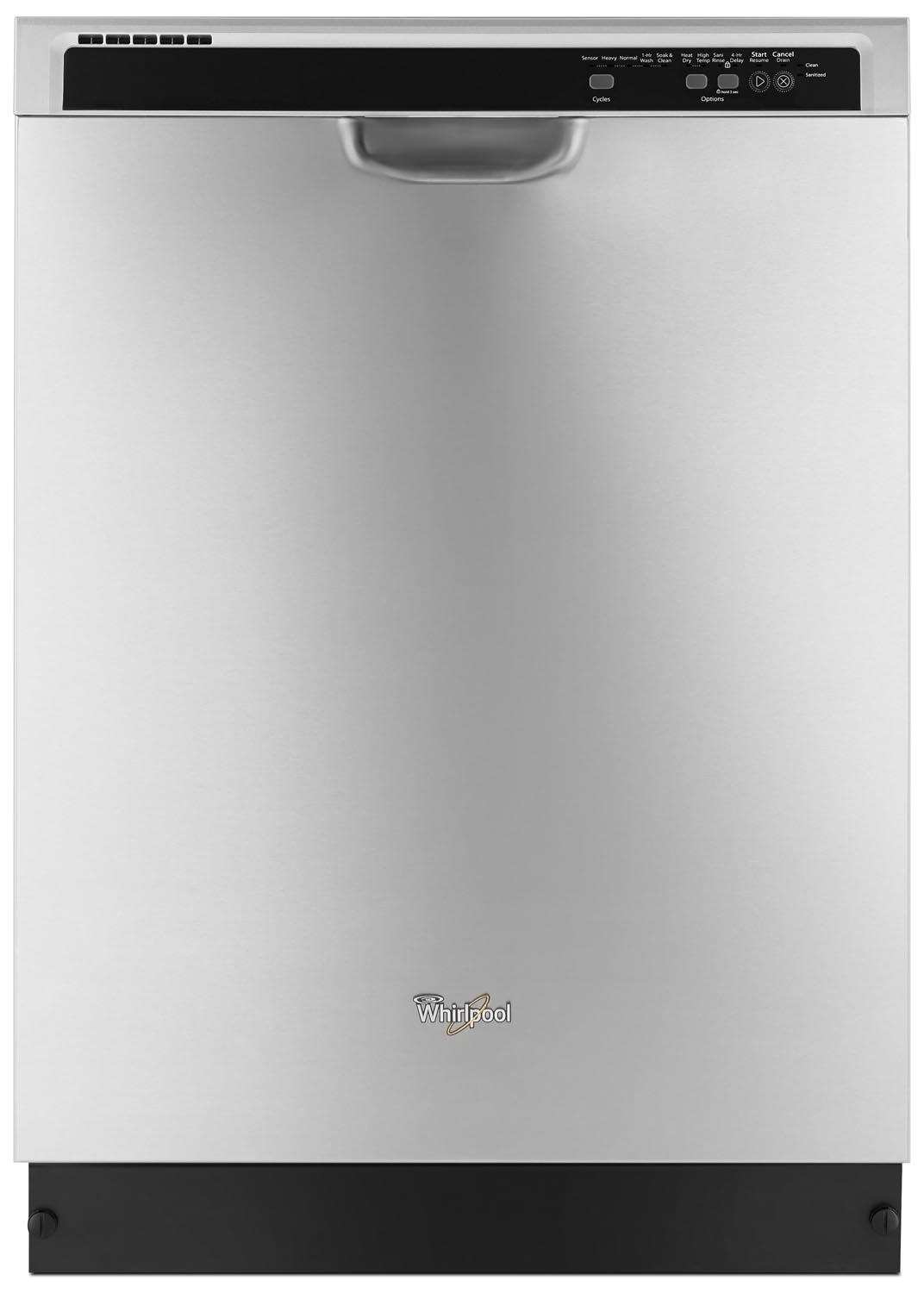 "Clean-Up - Whirlpool Stainless Steel 24"" Dishwasher - WDF540PADM"