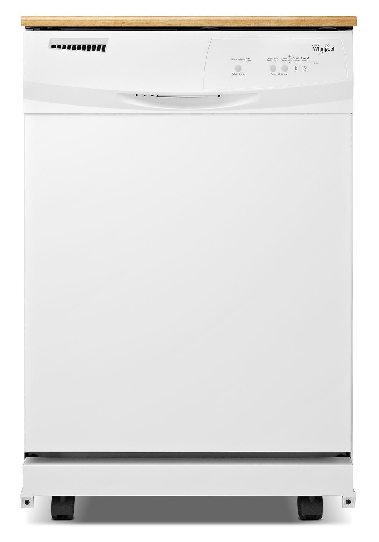 "[Whirlpool White Portable 24"" Dishwasher - WDP350PAAW]"
