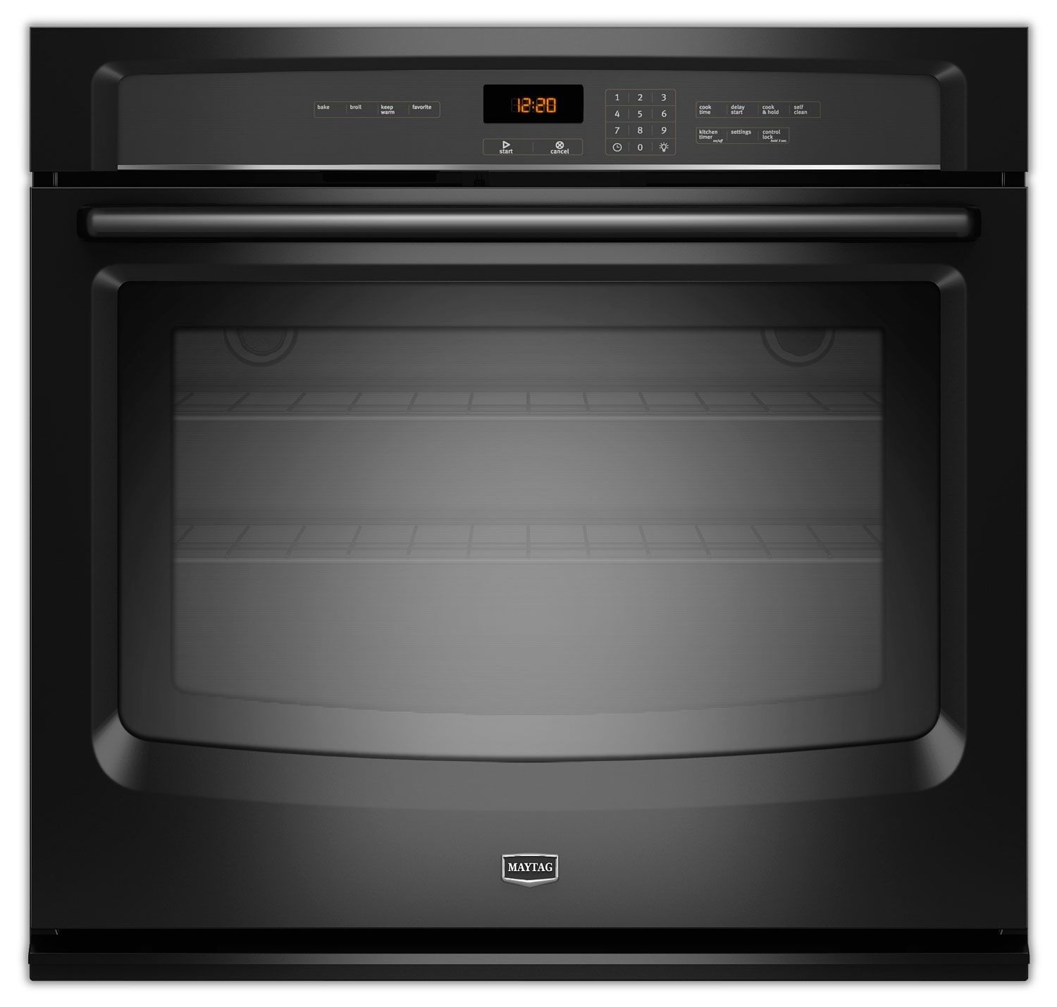 Cooking Products - Maytag Black Wall Oven (5.0 Cu. Ft.) - MEW7530DB