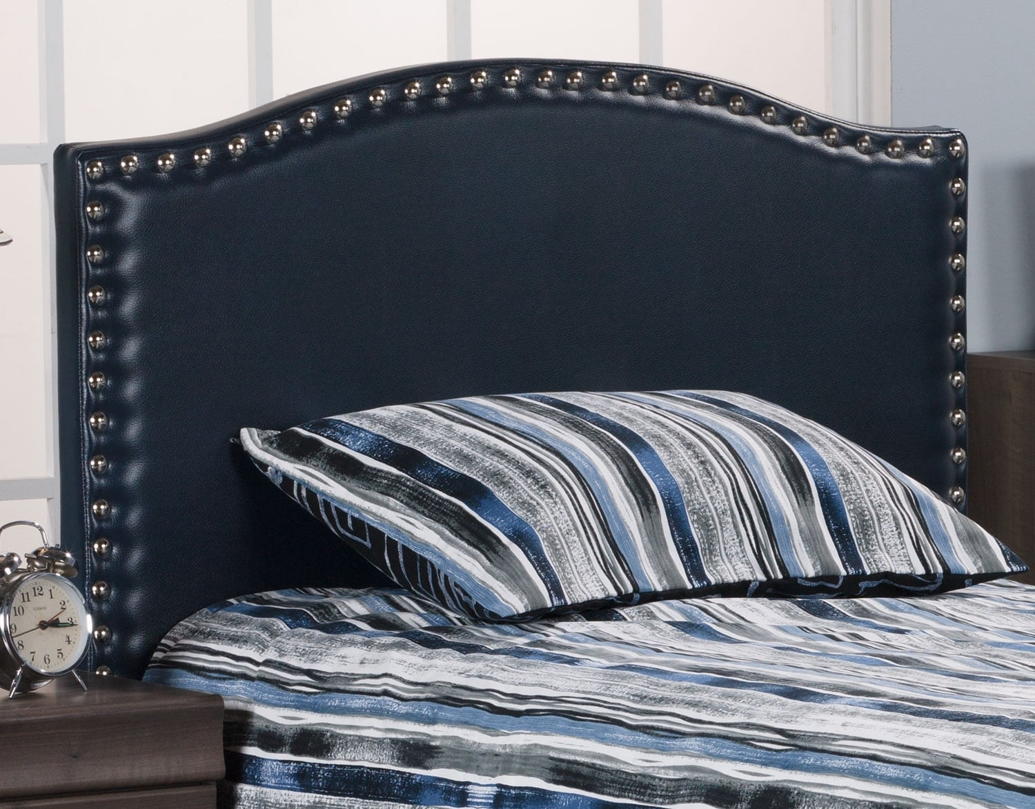 Bedroom Furniture - Benjamin Full Headboard – Navy