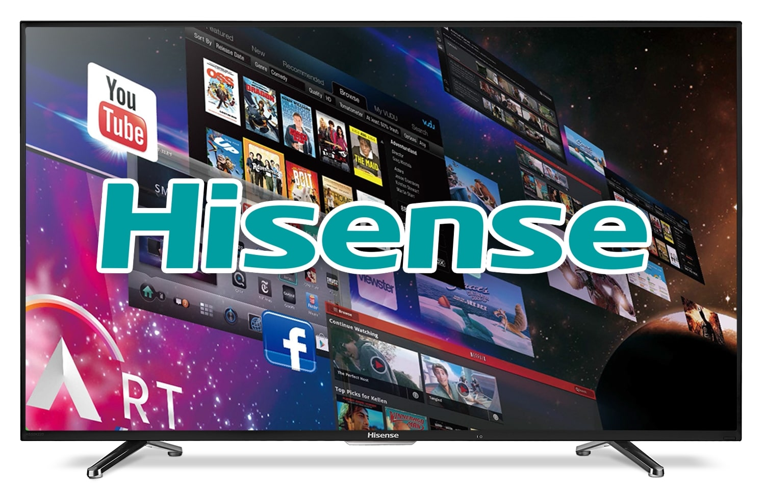 "Hisense 40"" 1080p Full HD Smart LED TV 40H5B"