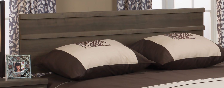 Chambre à coucher - Tête de lit pour grand lit Loft - gris brun