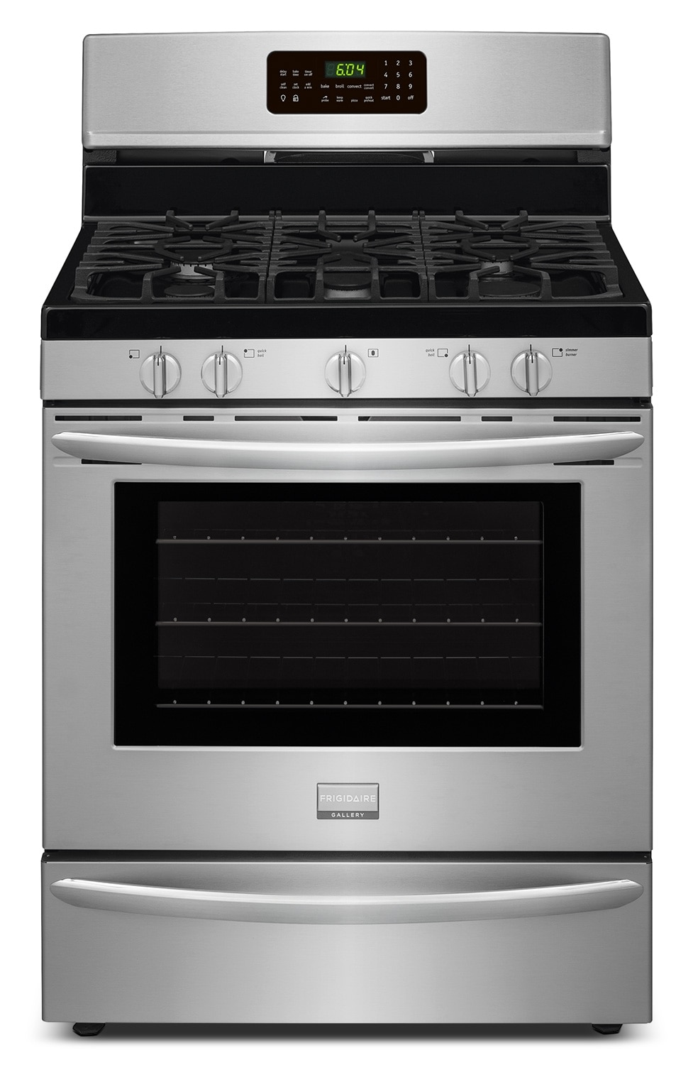 Cooking Products - Frigidaire Gallery Stainless Steel Freestanding Gas Convection Range (5.0 Cu. Ft.) - FGGF3058RF
