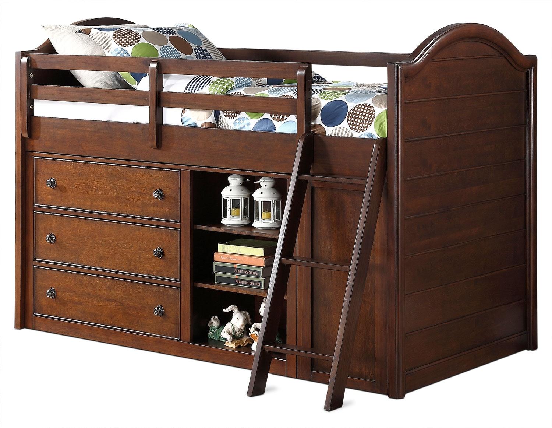 Kids Furniture - Chris Twin Loft Bed - Cherry