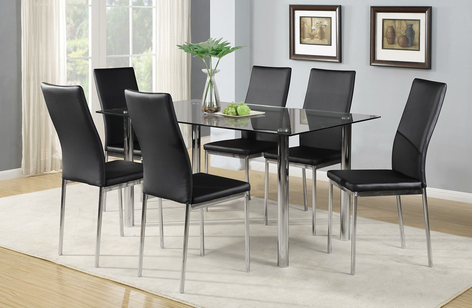 Koda 7-Piece Dining Package – Black
