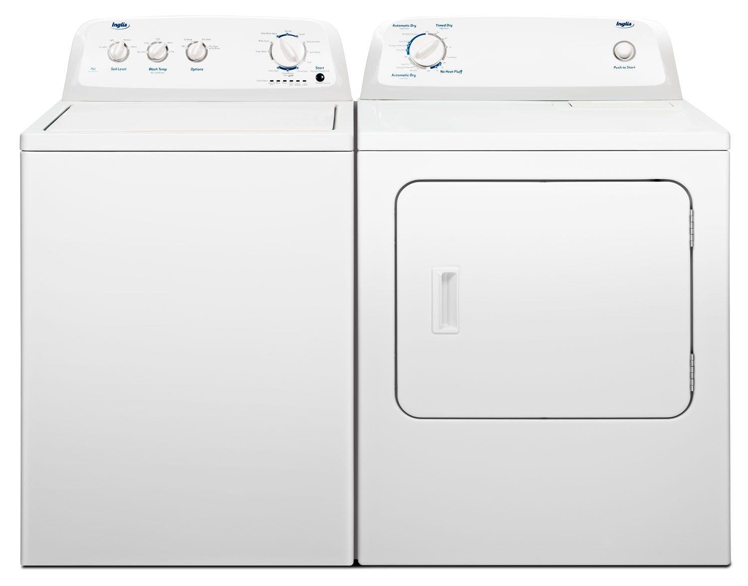 Washer And Dryer Dimensions Front Loading Inglis 42 Cu Ft Washer And 65 Cu Ft Dryer The Brick