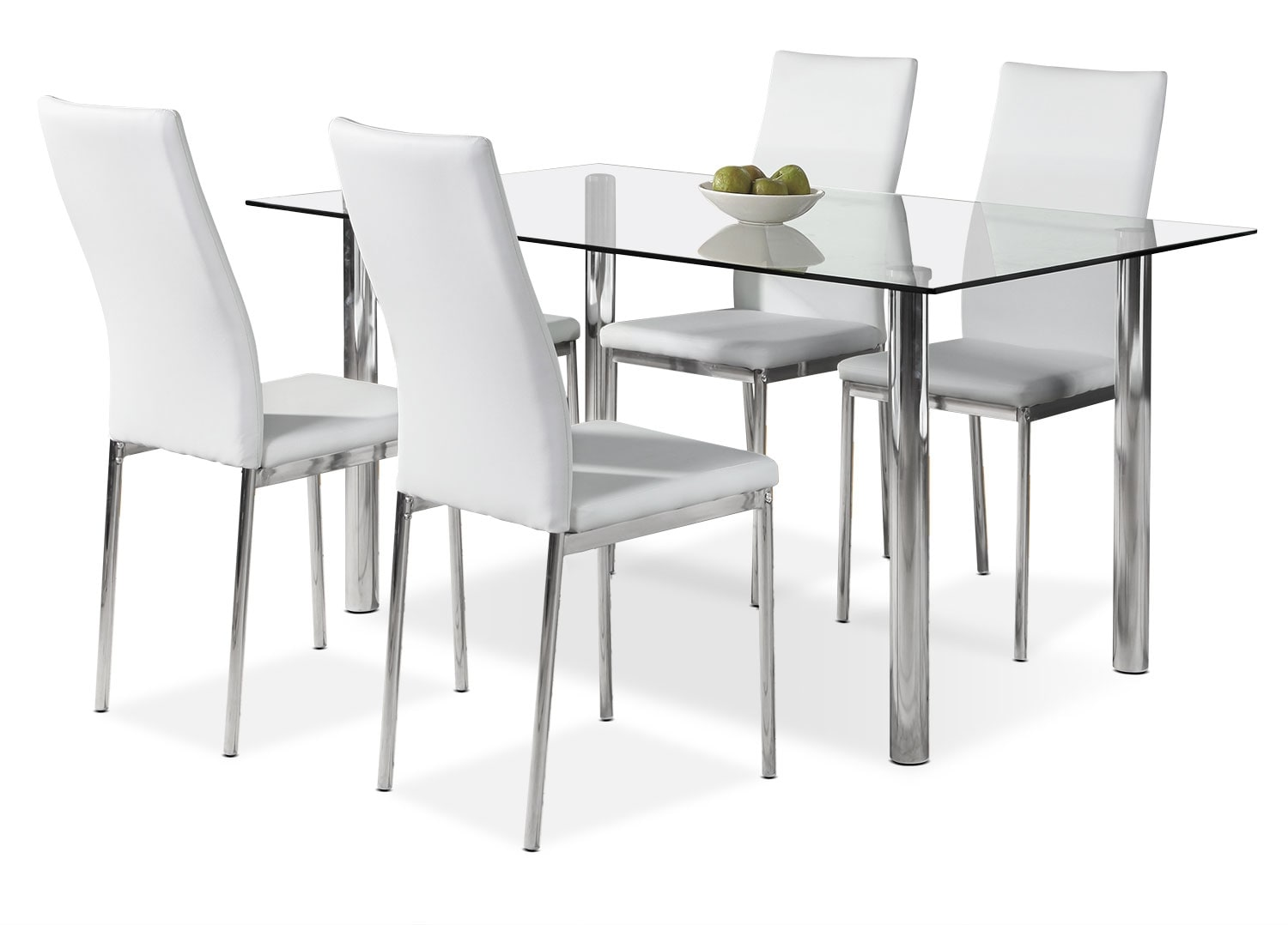 Dining Room Furniture - Koda 5-Piece Dining Package – White