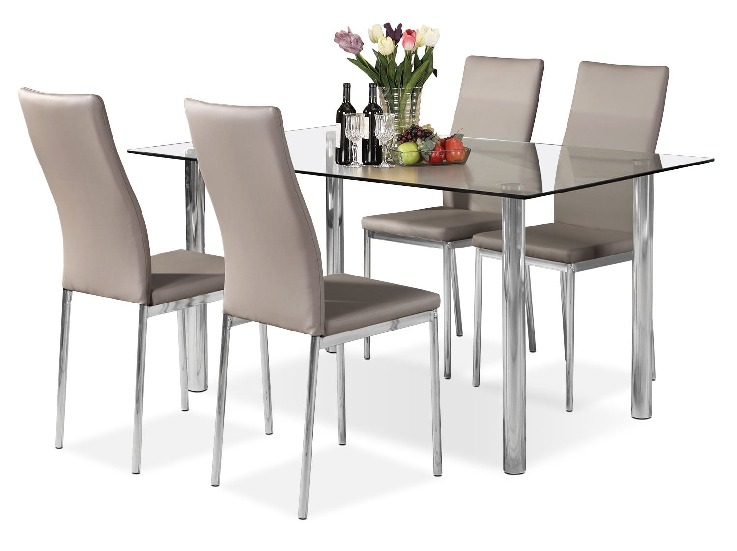 Koda 5 Piece Dining Package Taupe United Furniture Warehouse