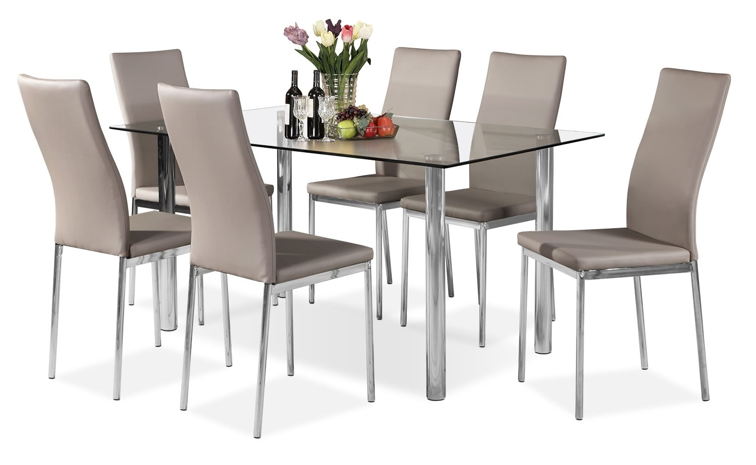 Dining Room Furniture - Koda 7-Piece Dining Package – Taupe