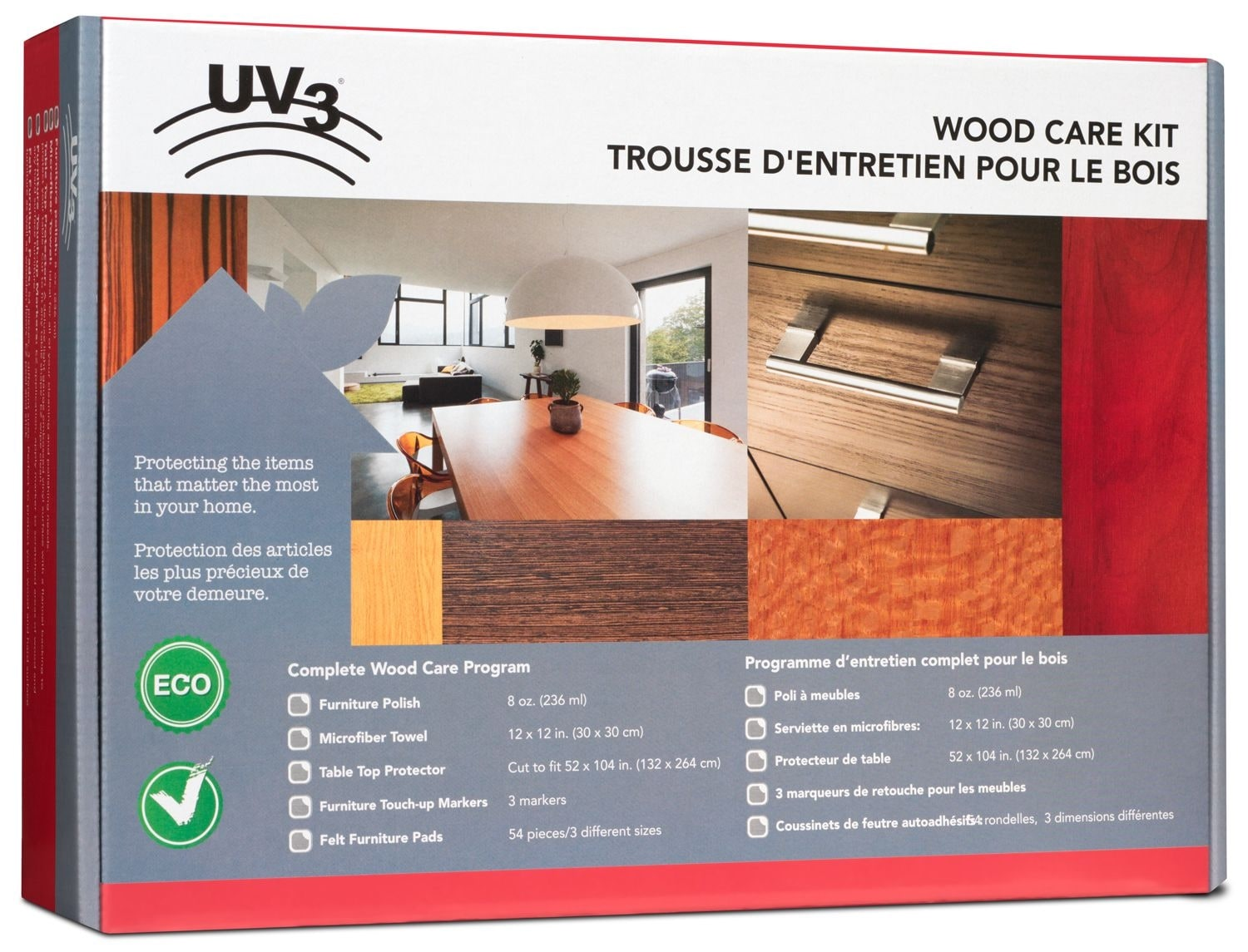 Living Room Furniture - UV3 Wood Furniture Care Kit