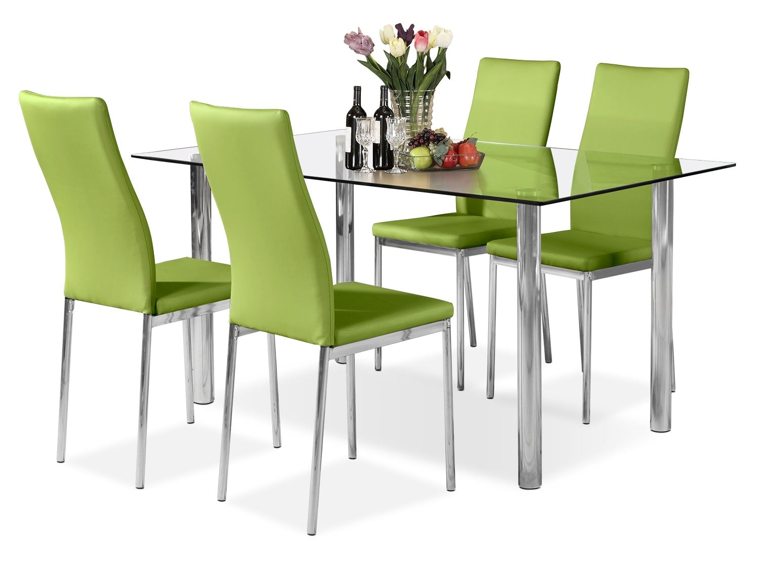 Dining Room Furniture - Koda 5-Piece Dining Package – Green
