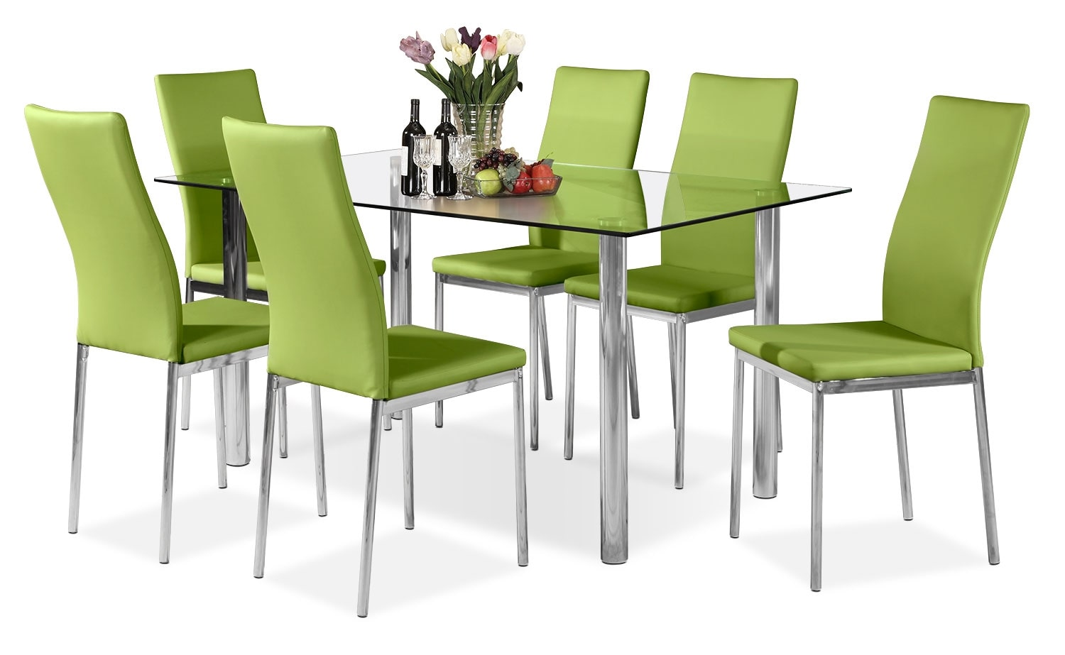 Dining Room Furniture - Koda 7-Piece Dining Package – Green