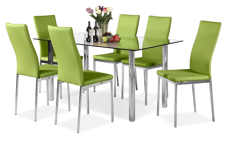 Salle à manger - Ensemble de salle à manger Koda 7 pièces - vert