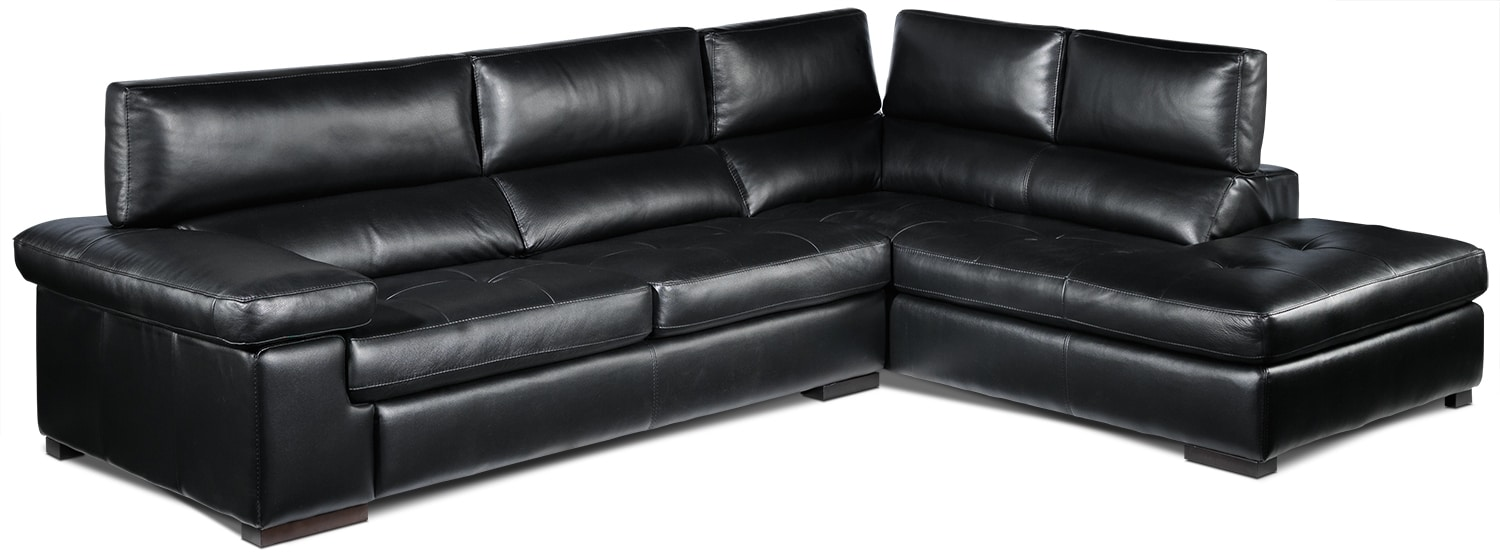 Underwood 2-Piece Right-Facing Sectional - Black
