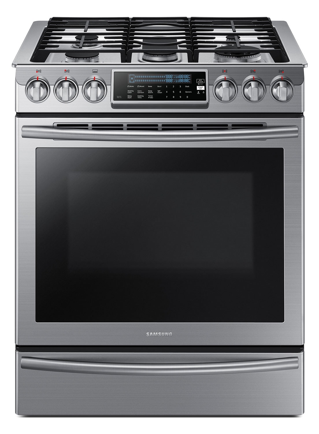 Samsung Stainless Steel Slide In Gas Range 5 8 Cu Ft