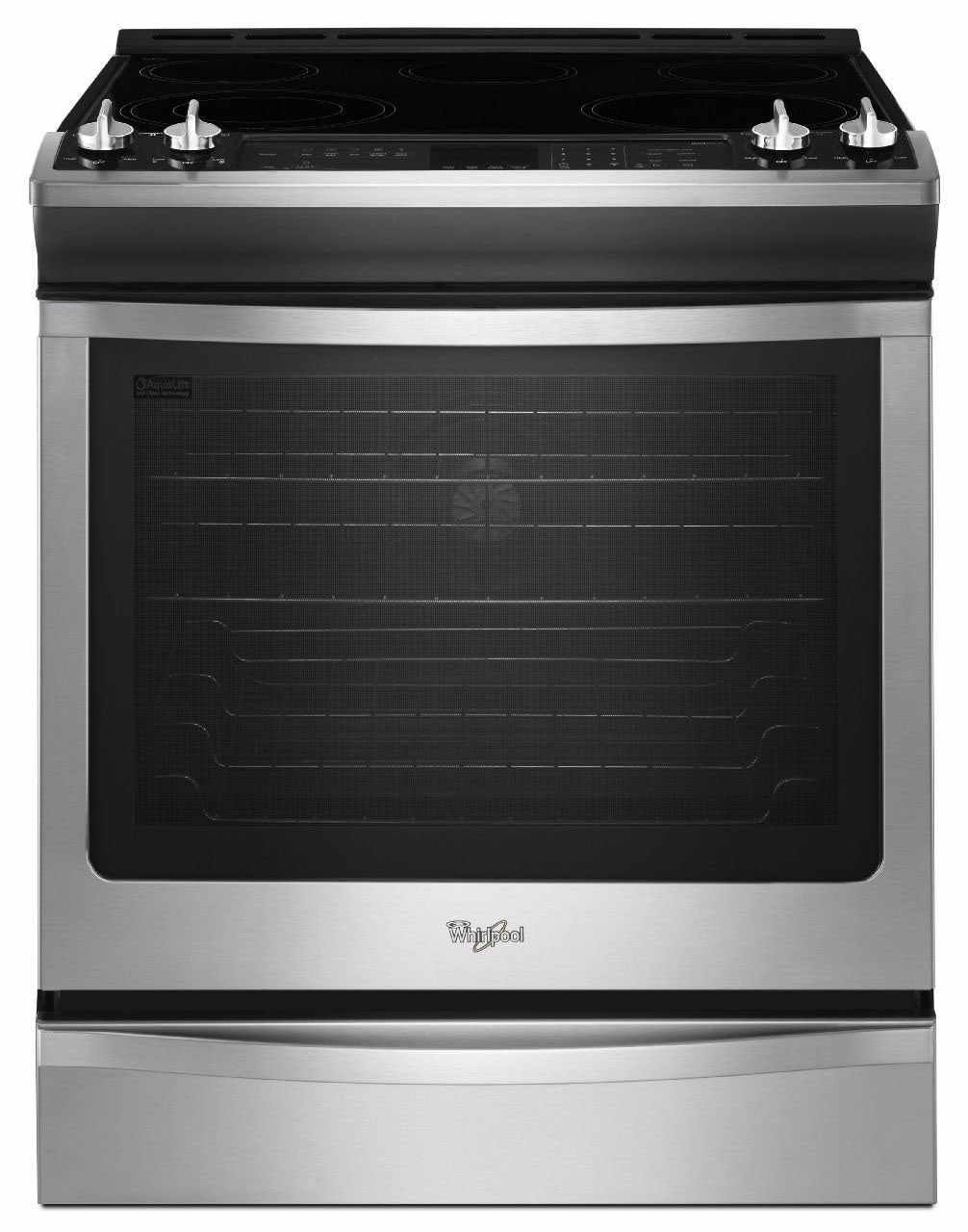 Whirlpool Stainless Steel Slide-In Electric Convection Range (6.2 Cu. Ft.) - YWEE730H0DS