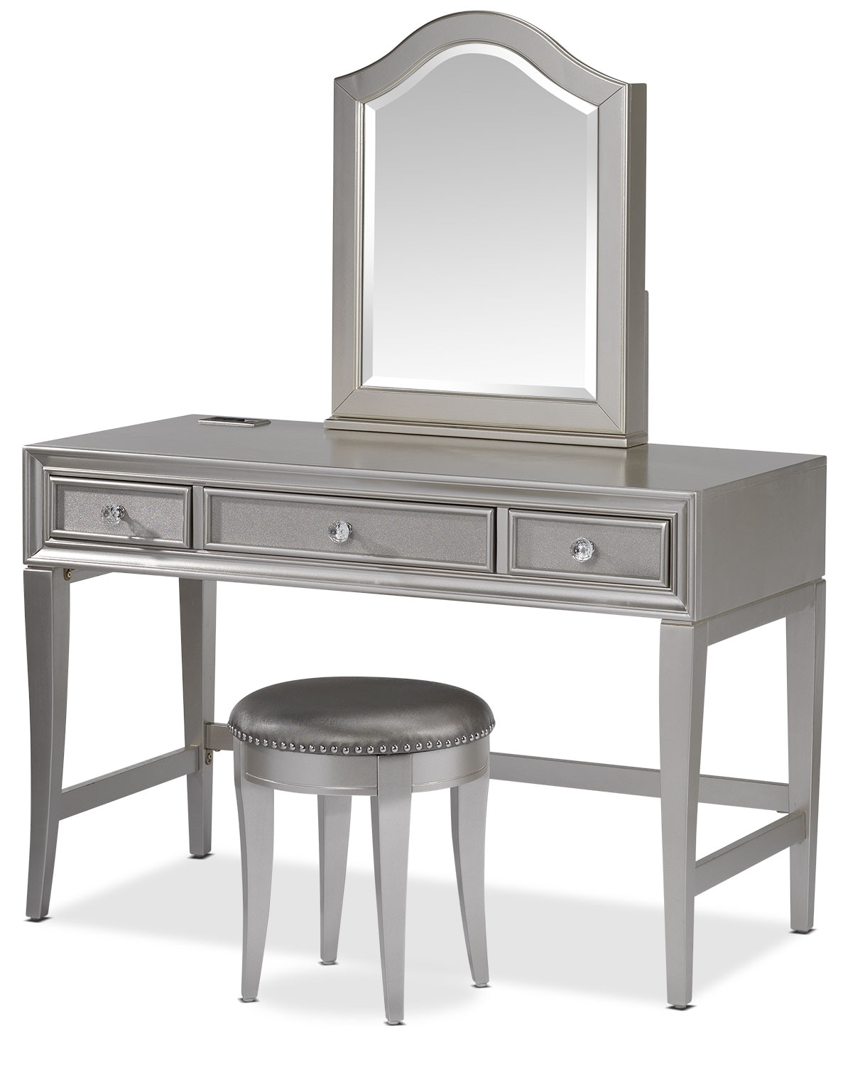 Kids Furniture - Lil Diva Vanity and Mirror w/ Stool