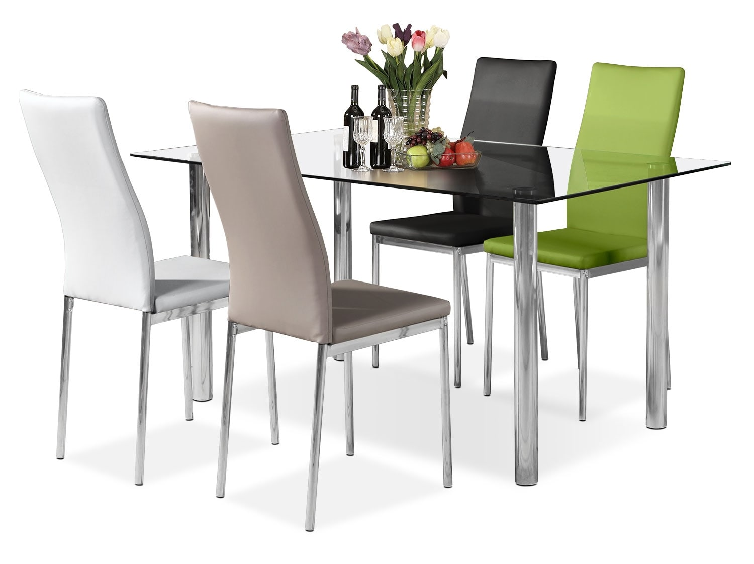 Dining Room Furniture - Koda 5-Piece Dining Package – Assorted