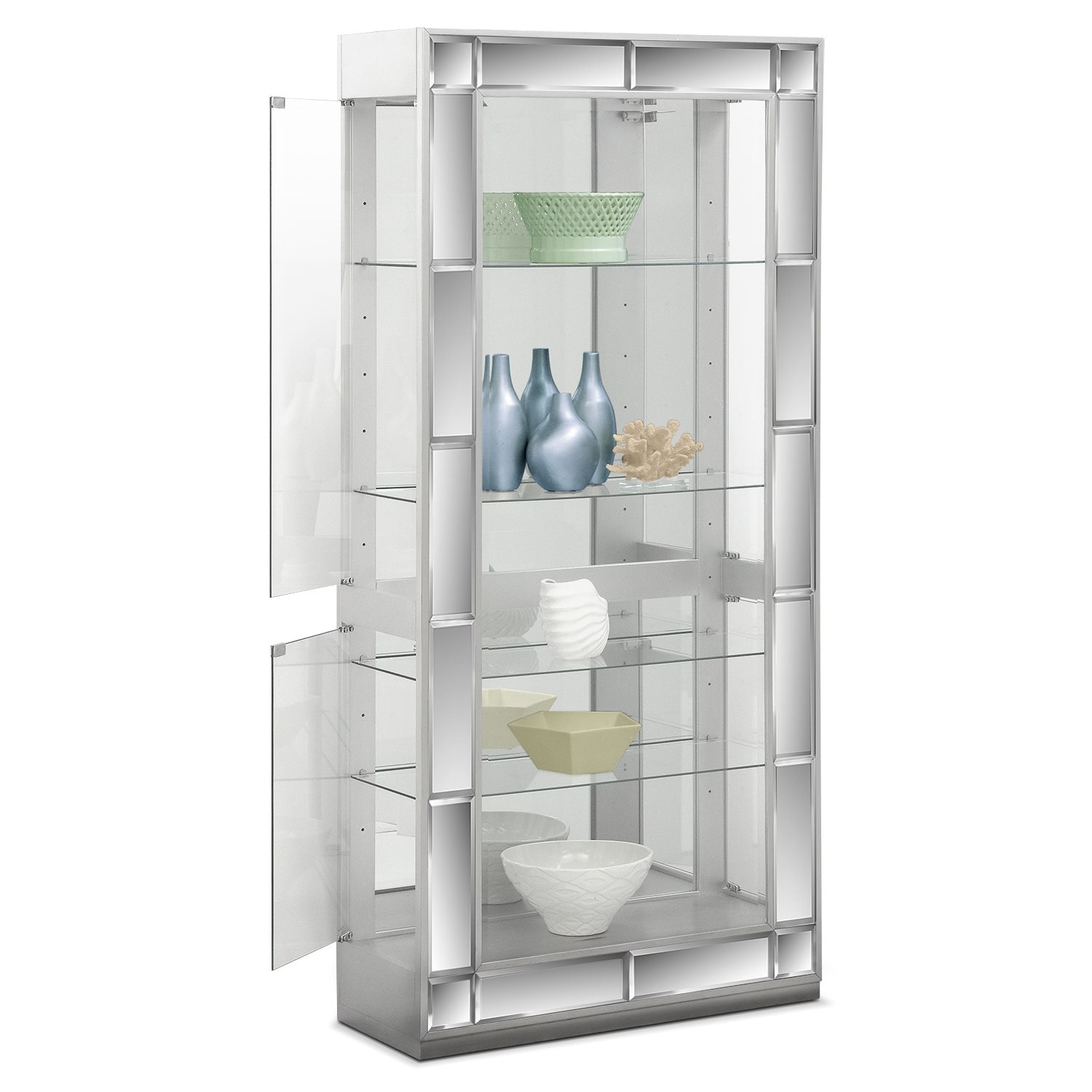 dining room curio cabinets | Starlet Curio | Value City Furniture