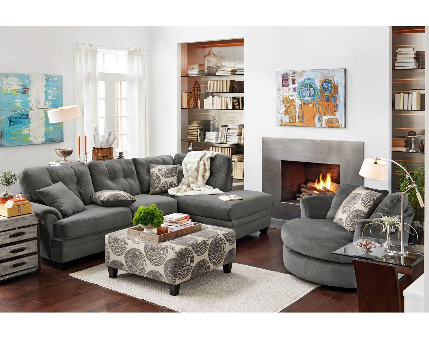 [The Cordoba Gray Sectional Collection]