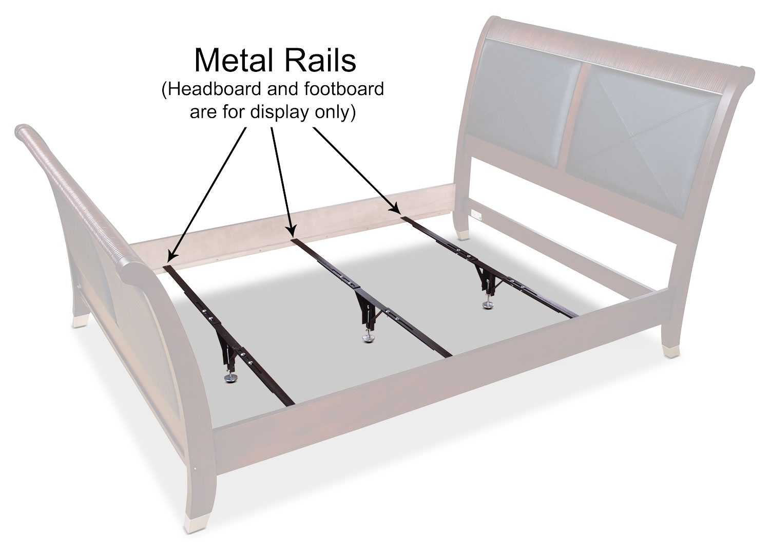 Mattresses and Bedding - Deluxe Full/Queen/King Metal Support Rails – Set of 3