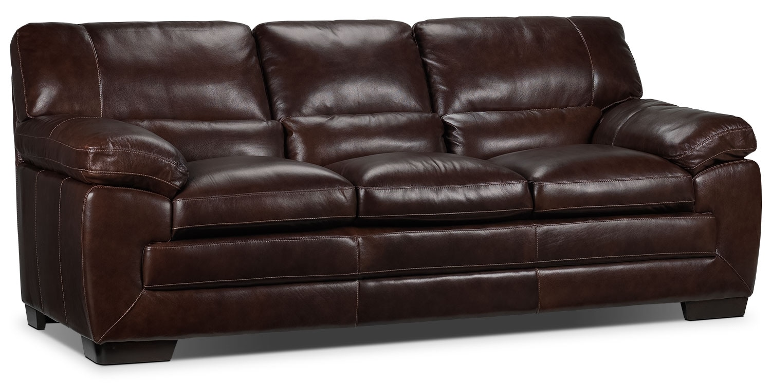 Living Room Furniture - Amarillo Sofa - Brown