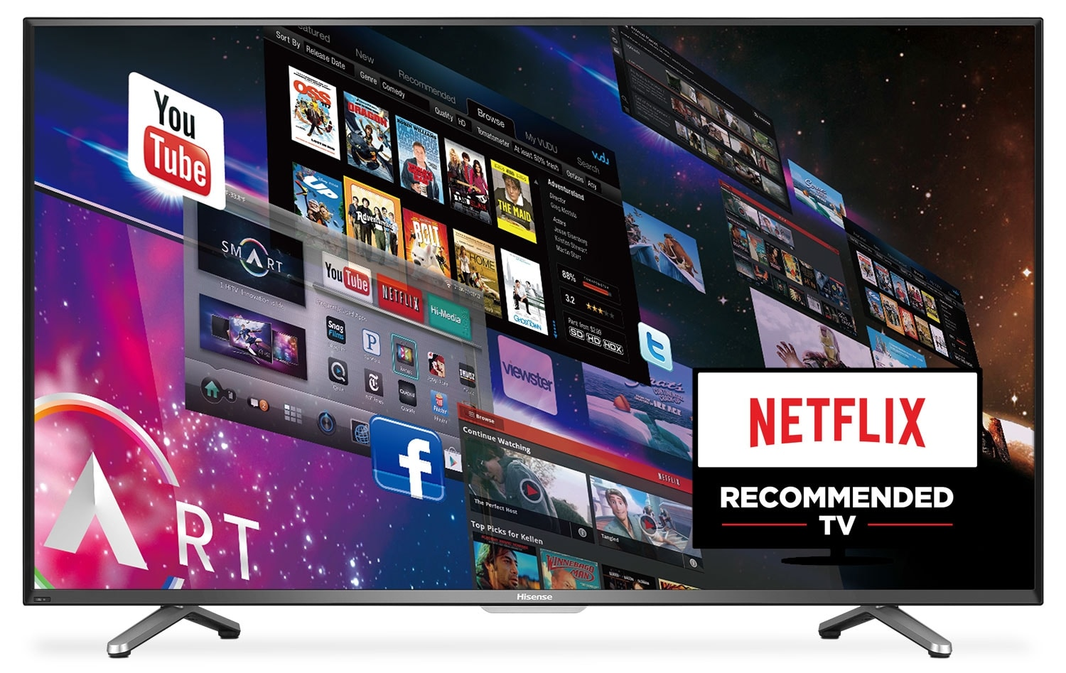 "Hisense 55"" 4K UHD Smart LED TV 55H7B"