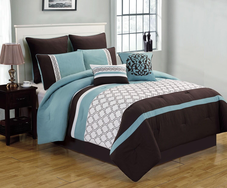 Mattresses and Bedding - Teagan 8-Piece Queen Comforter Set