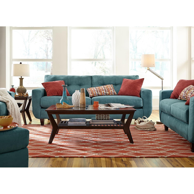 West Village Sofa And Loveseat Set Blue Value City