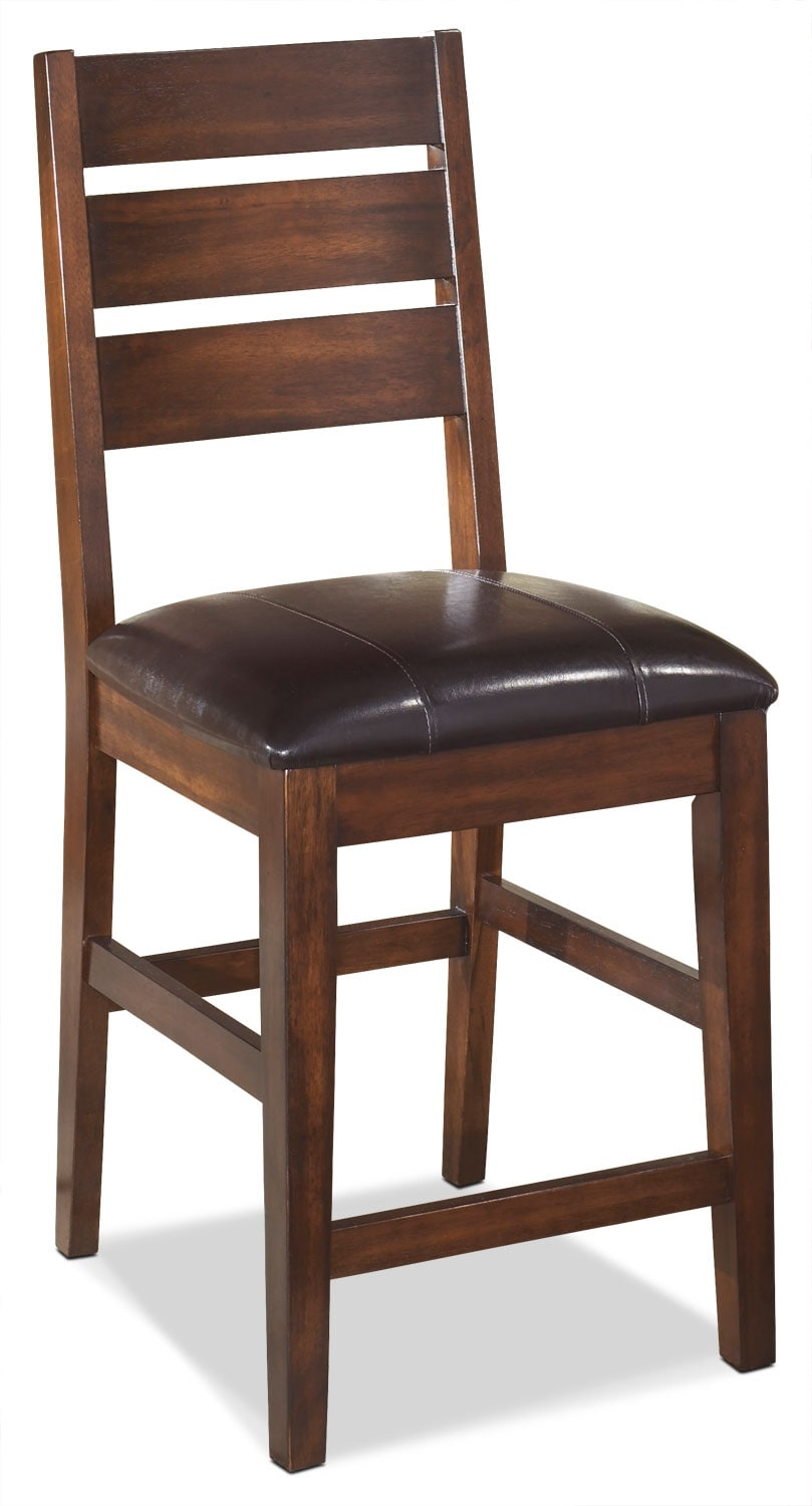 "Dining Room Furniture - Larchmont 24"" Wood-Back Bar Stool"