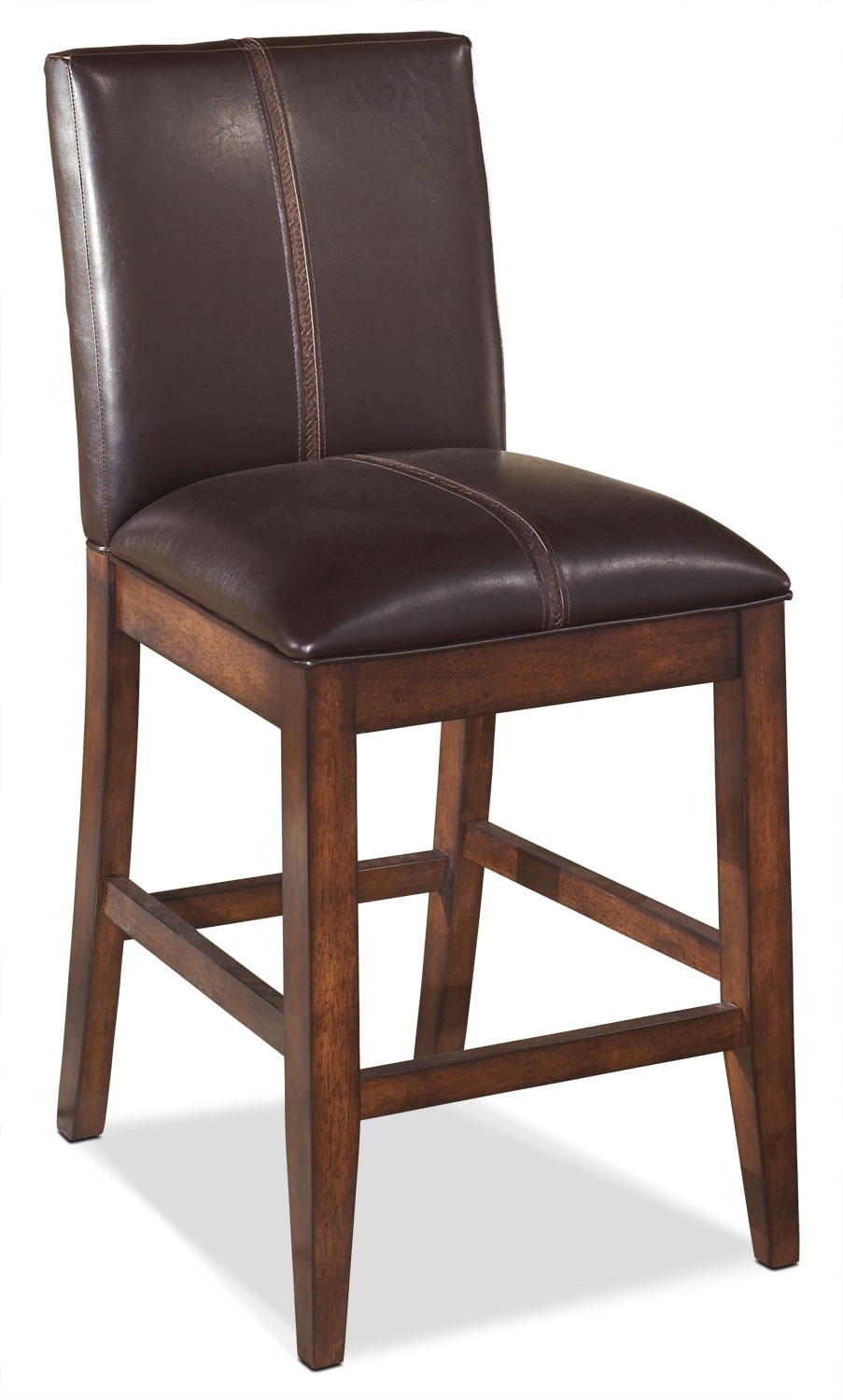 "Dining Room Furniture - Larchmont 24"" Leather-Back Bar Stool"