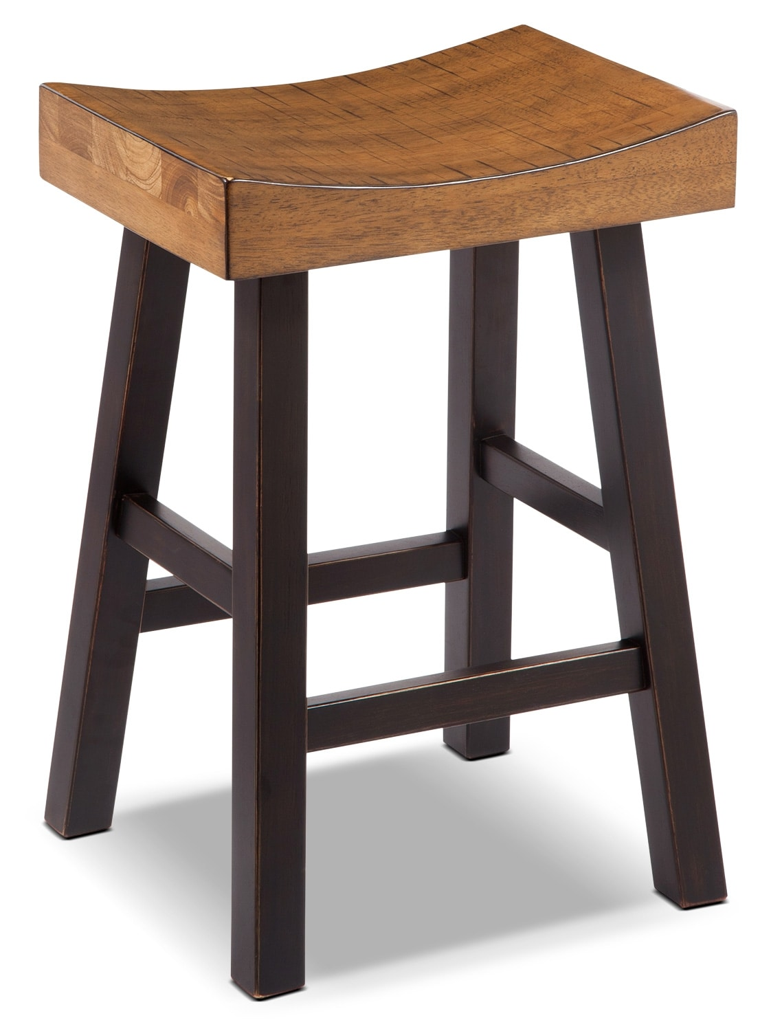 "Dining Room Furniture - Glosco 24"" Saddle-Seat Bar Stool"