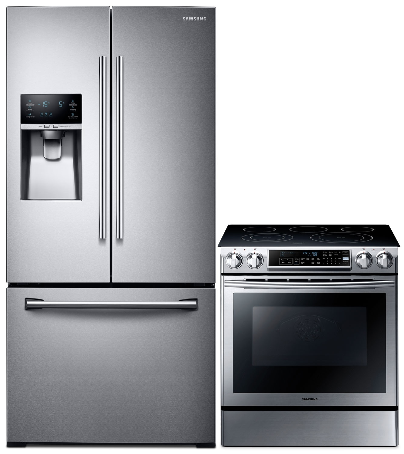 Samsung 25.5 Cu. Ft. Refrigerator and 5.8 Cu Ft. Electric Range