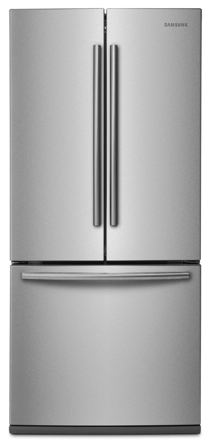 samsung 22 cu ft 30 wide french door refrigerator stainless steel the brick. Black Bedroom Furniture Sets. Home Design Ideas