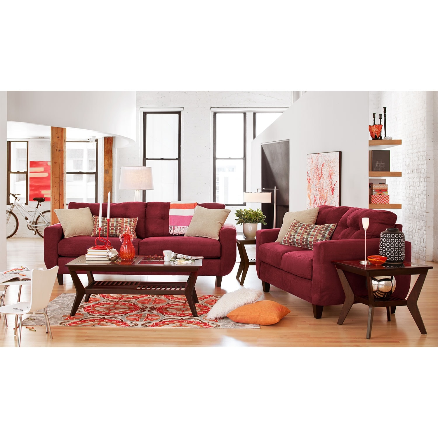West Village Sofa Red American Signature Furniture