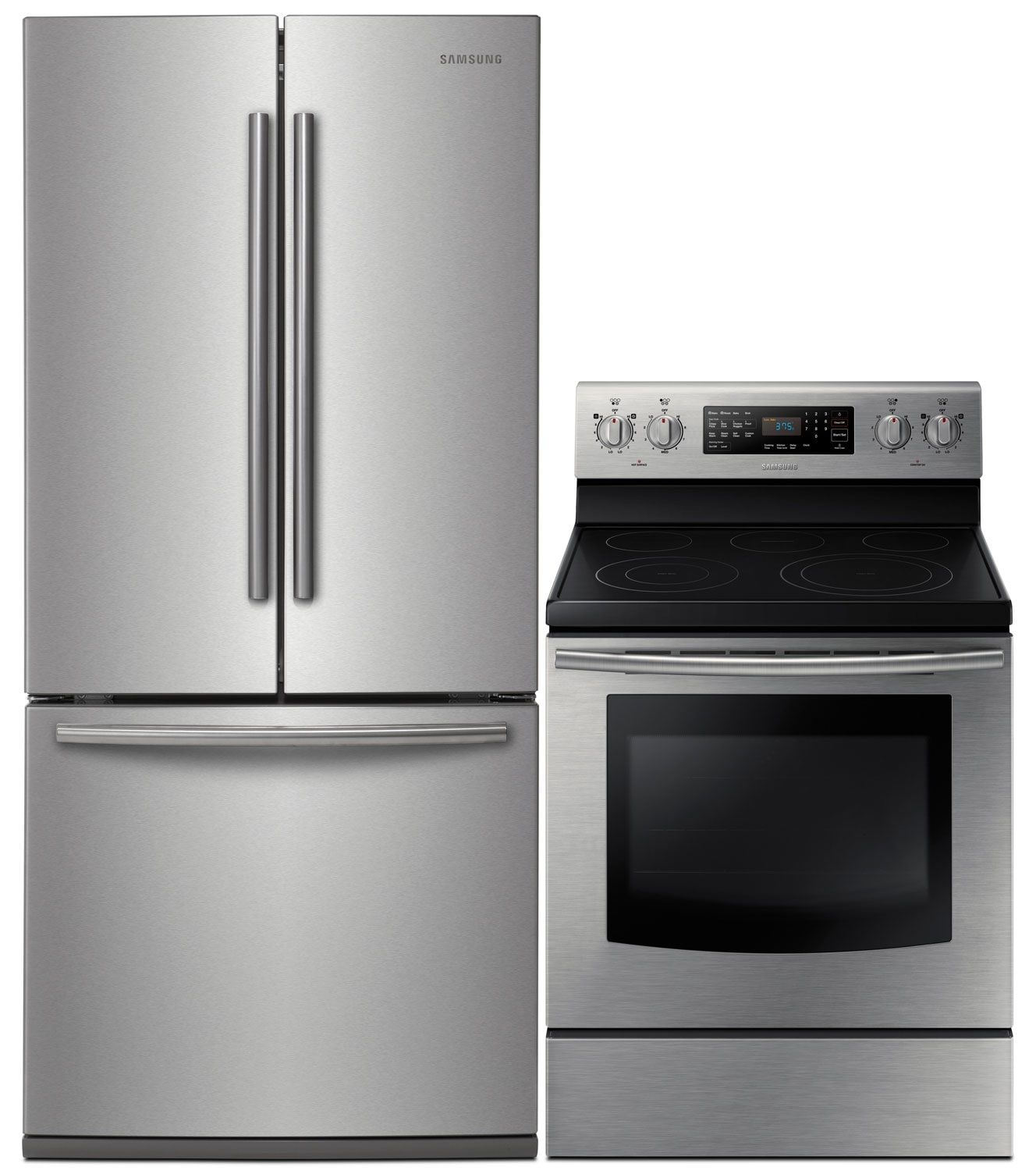 Cooking Products - Samsung 22 Cu. Ft. Refrigerator and 5.9 Cu. Ft. Electric Range