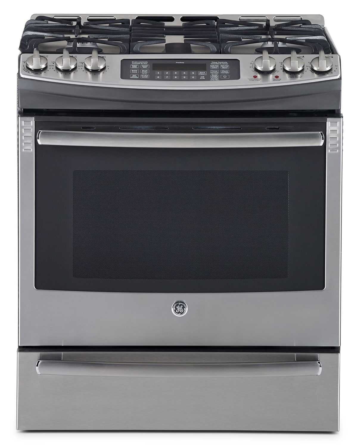 GE Stainless Steel Slide-In Gas Convection Range (6.3 Cu. Ft.) - PCGS910SEFSS