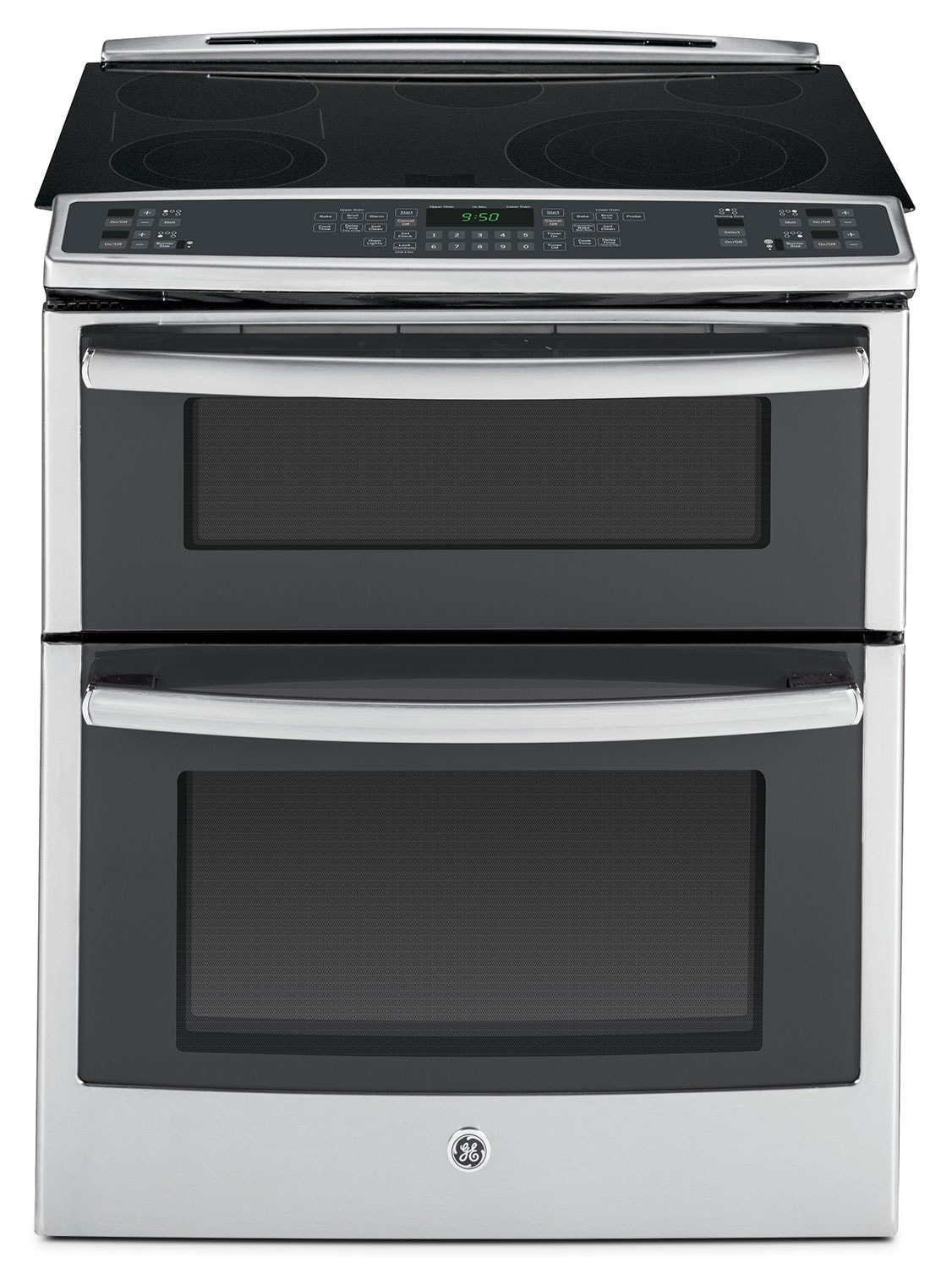 Cooking Products - GE Stainless Steel Slide-In Electric Double-Oven Convection Range (6.6 Cu. Ft.) - PS950SFSS