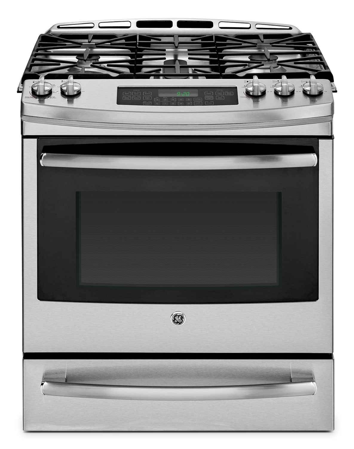 GE Stainless Steel Slide-In Gas Convection Range (5.4 Cu. Ft.) - PCGS920SEFSS