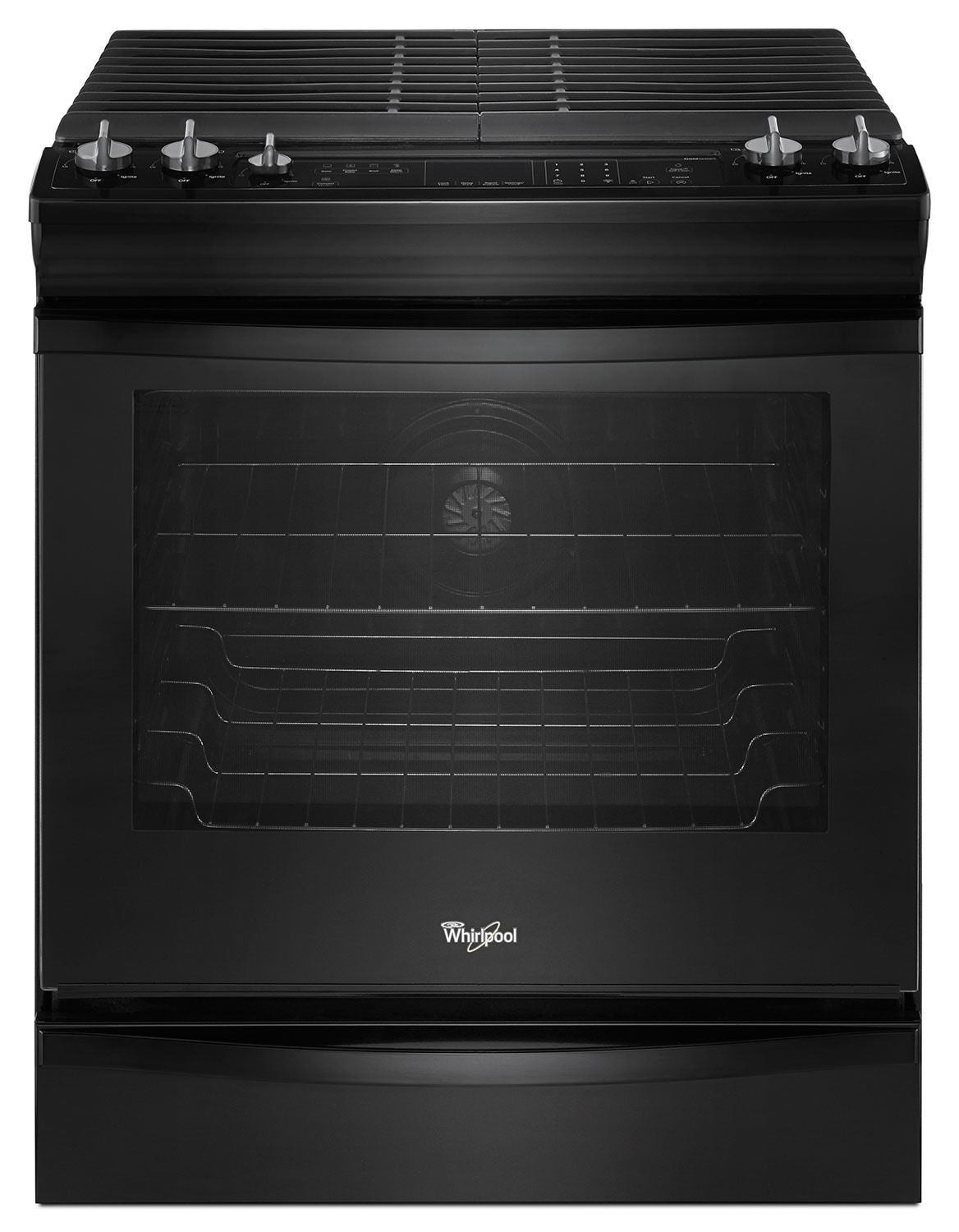 Whirlpool Black Slide-In Gas Convection Range (5.8 Cu. Ft.) - WEG730H0DB