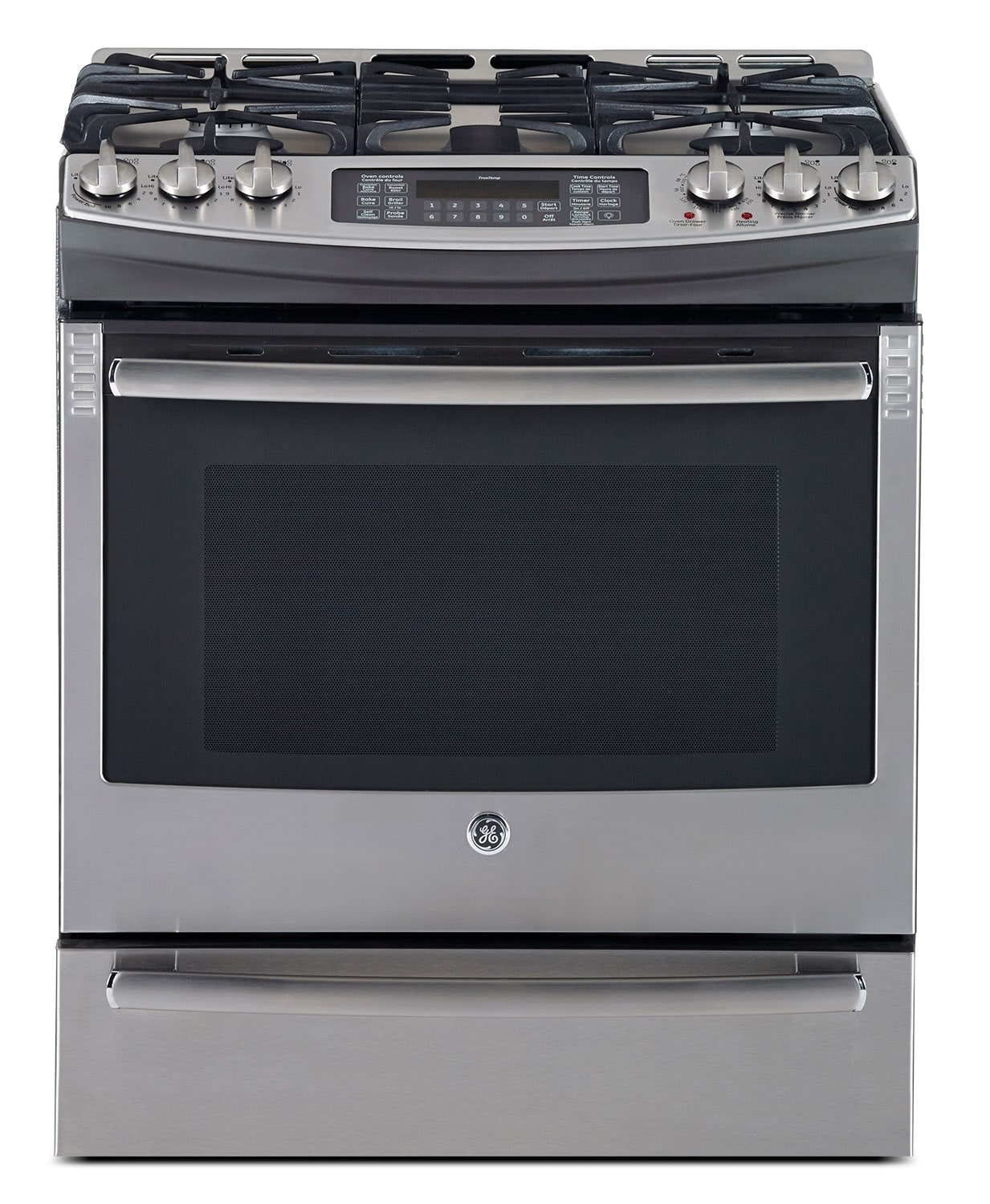 Cooking Products - GE Stainless Steel Slide-In Dual Fuel Convection Range (6.3 Cu. Ft.) - PC2S910SEFSS