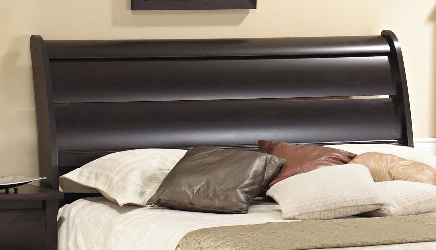 Bedroom Furniture - Mocha Queen Panel Headboard
