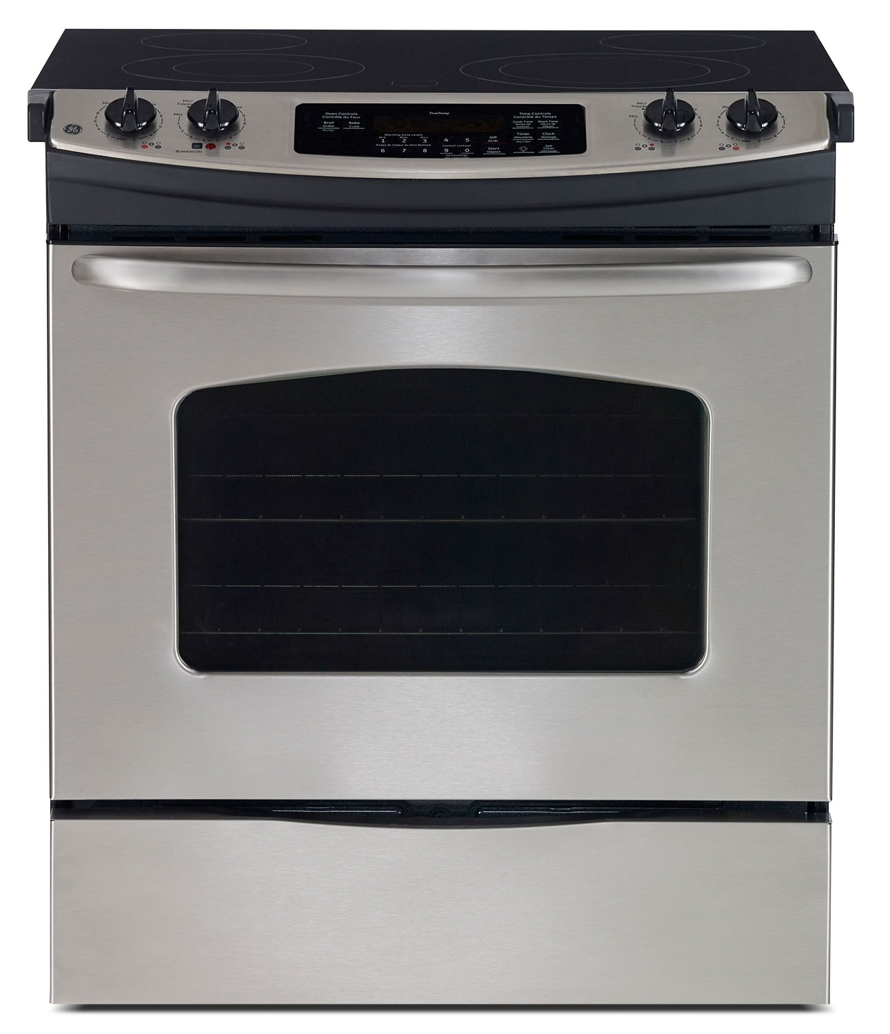 Cooking Products - GE Stainless Steel Slide-In Electric Range (5.2 Cu. Ft.) - JCSP41SVSS