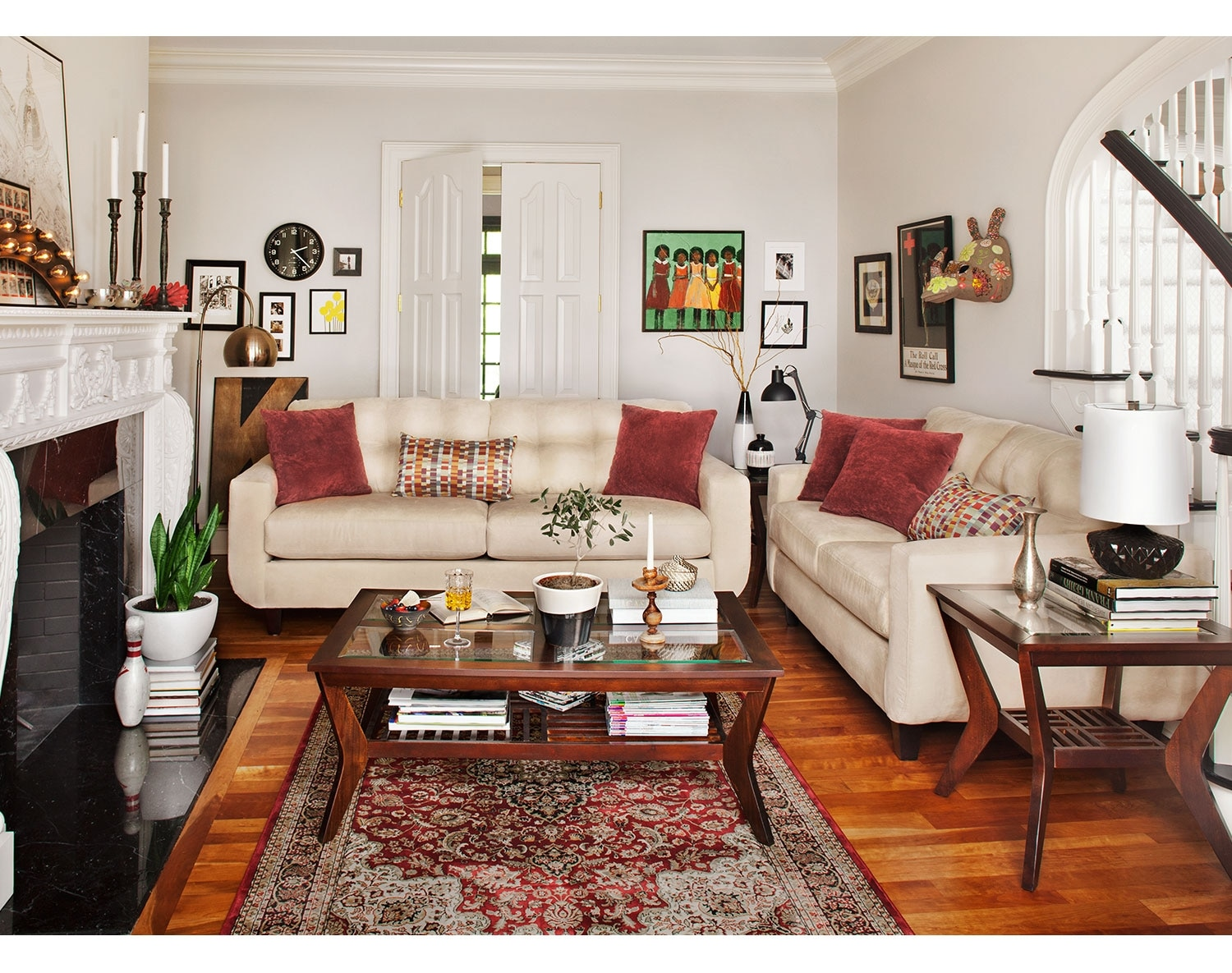 Living Room Furniture - The Walker Cream Collection - Sofa