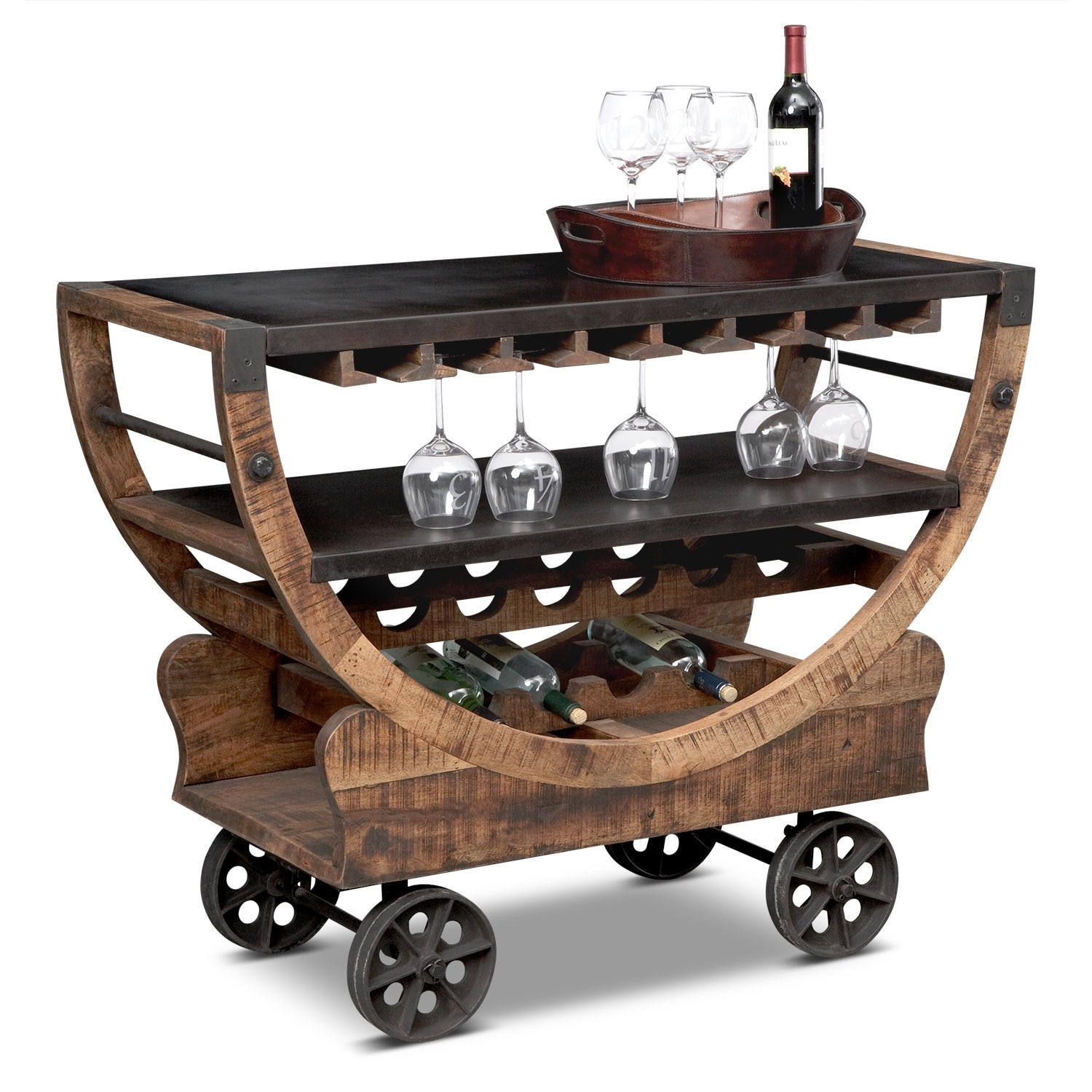 Farrell Bar Cart Value City Furniture
